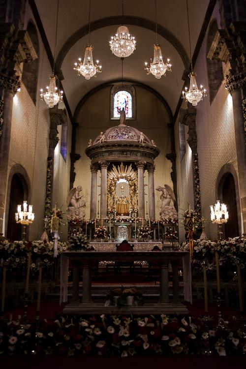 Die Kirche Nuestra Señora de la Concepción wurde prachtvoll geschmückt.