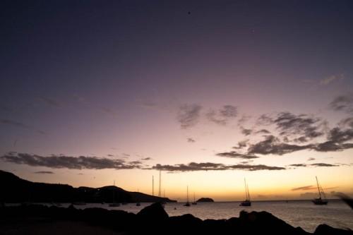 Sonnenuntergang über Martinique