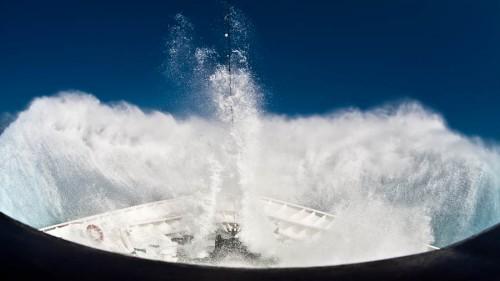 MS Vistamar im Atlantik bei Windstärke 7