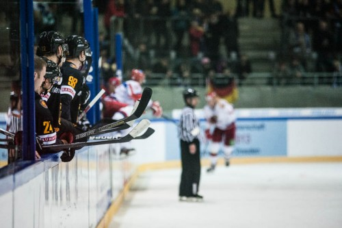 Eishockey-Länderspiel GER-RUS am 12.12.2012 in Dresden.