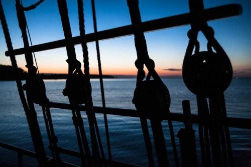 Sonnenuntergang vor Als.