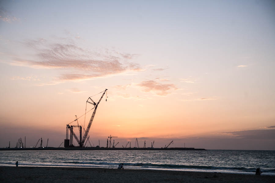 """Blick auf die im Bau befindliche Insel """"Palm Deira"""""""