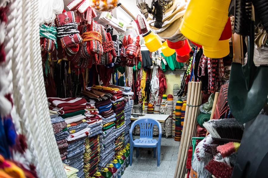 Ein Laden für Kamelbedarf in Al Ain