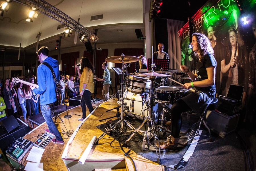 Das Rockensemble der Musikschule Goldenes Lamm